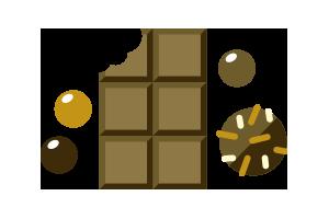 Över 120 chokladprodukter